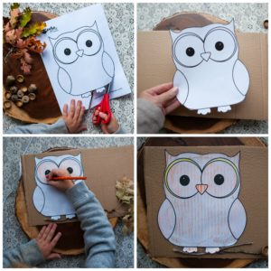 Cut out and color owl template.