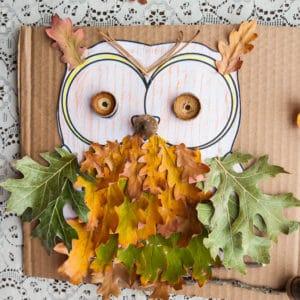 Completed oak owl.