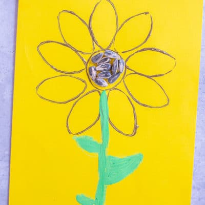 Toilet Paper Roll Sunflower Paintings