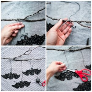 How to finish up the wall hanging.