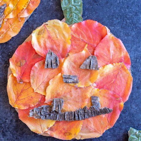 Fall Leaf Jack-O-Lanterns