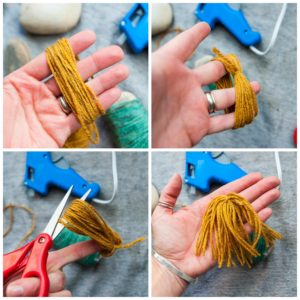 Yarn hair for the monster rock.