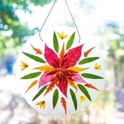 Autumn Mandala Suncatcher