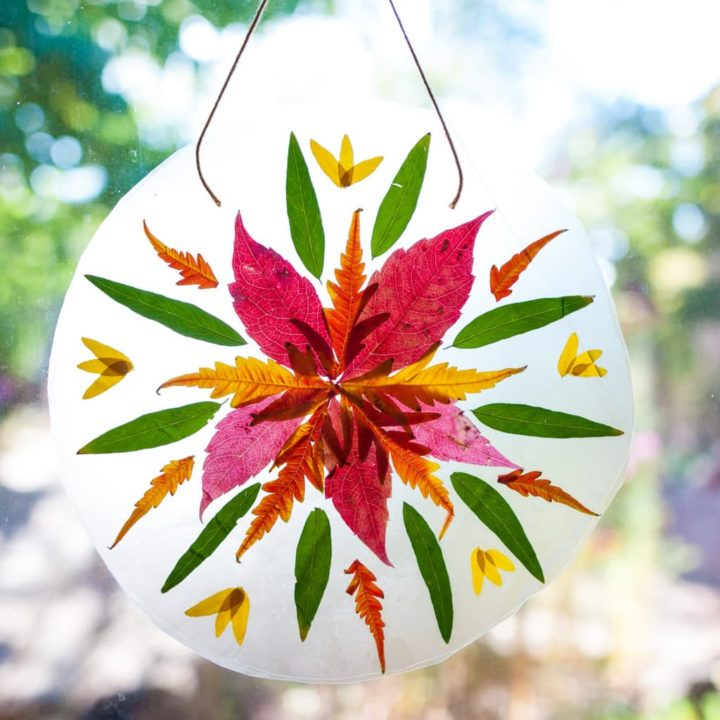 How to Make an Autumn Mandala Suncatcher