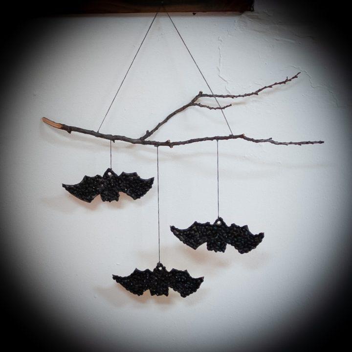 How to Make a Black Bean Bats Wall Hanging