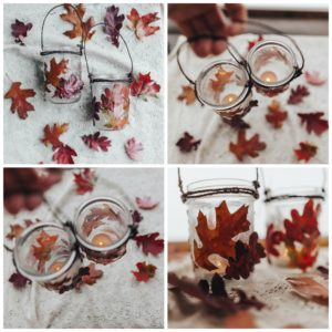 Add a candle to the fall lantern.