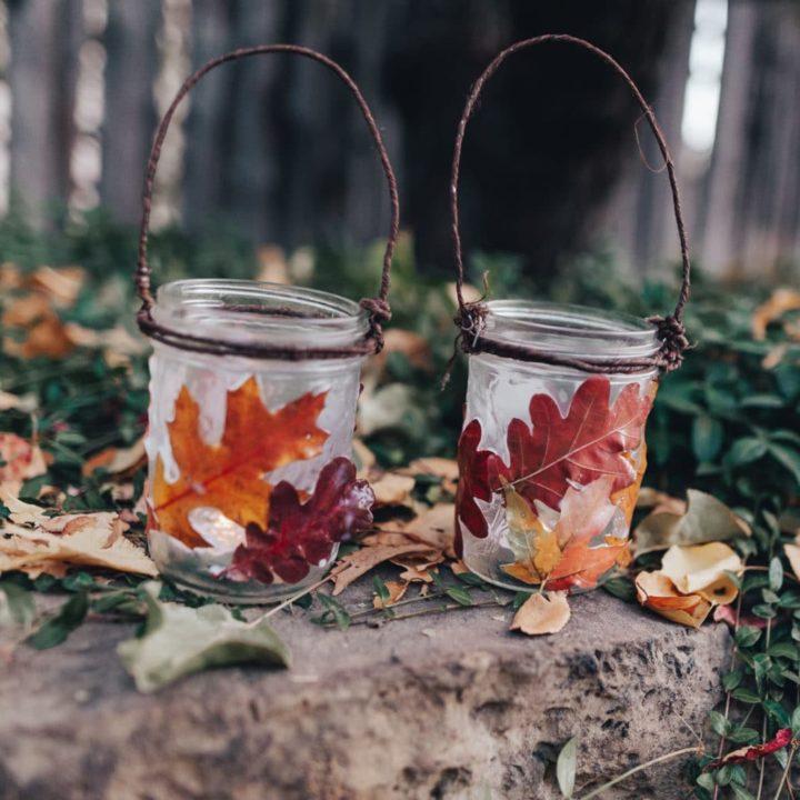 How to Make Fall Lanterns