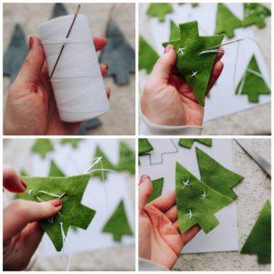Adding stars to tree ornaments.