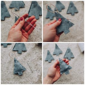 Add edging to ornaments.
