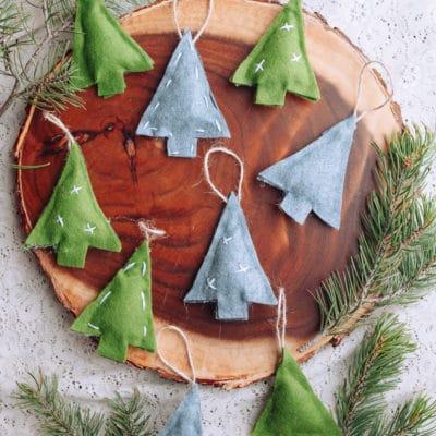 No-Sew Felt Christmas Tree Ornaments