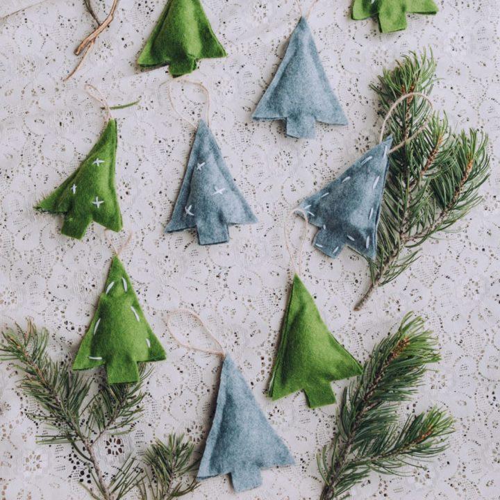 How to Make No-Sew Felt Christmas Ornaments