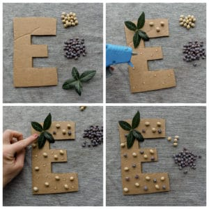 """Decorating the letter """"E"""""""